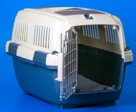 crates for dogs blue and white dog crate with the metal door open